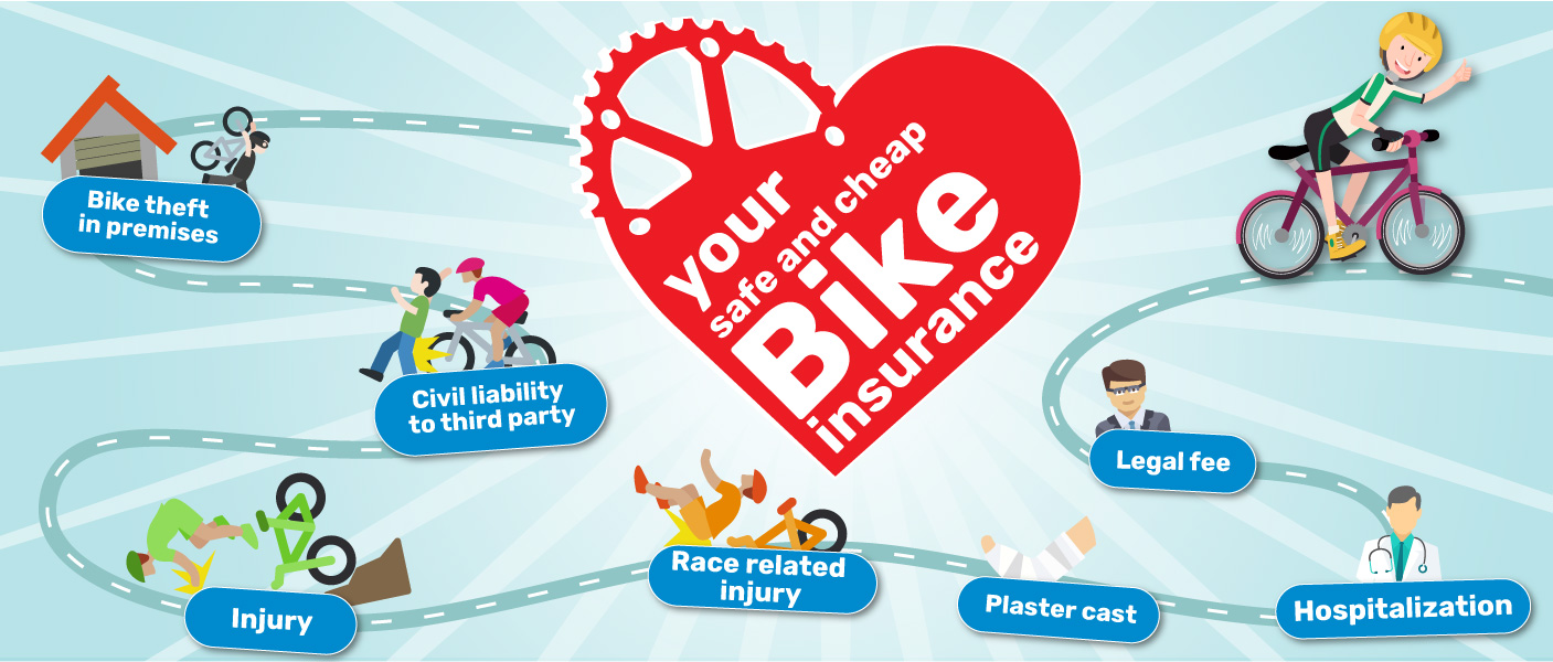 Your bike insurance. Safe and convenient. Fill out your online estimate for the insurance of your bicycle